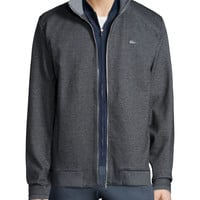 Melange Full-Zip Sweatshirt, Gray, Size: