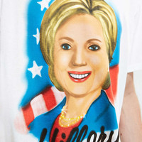 Hillary Airbrush Tee - Urban Outfitters