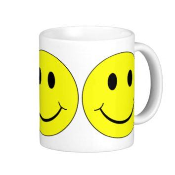 Smiley Faces Pattern Coffee Mugs