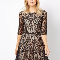 Oasis | Oasis Lace Skater Dress at ASOS
