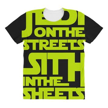Jedi On The Streets Sith In The Sheets All Over Women's T-shirt