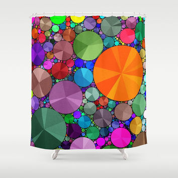 Rainbow Color  Bling  Pattern  Shower Curtain by OCDesigns