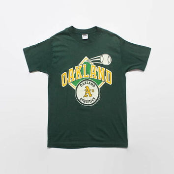 Vintage 80s OAKLAND A's T-Shirt / 1980s Athletics Baseball Tee Shirt S