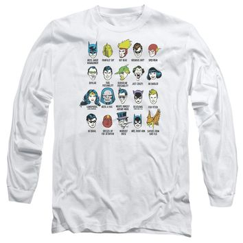 Dc - Superhero Issues Long Sleeve Adult 18/1 Officially Licensed Shirt