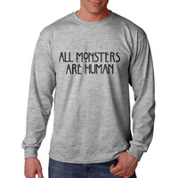 All monsters are human Longsleeve Men Tshirt