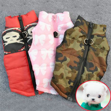 Winter Warm Pet Dog Clothes Vest Harness Puppy Coat Jacket Apparel 6 Color Large New