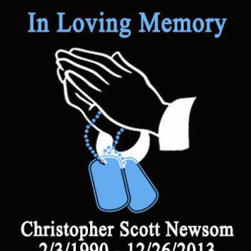 In Loving Memory Dog Tags Praying Hands Window Sticker Car Decal Military Dogtag Army Navy Marine