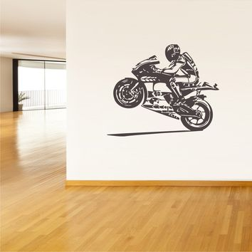 Wall Vinyl Decal Sticker Decals Moto Motorcycle Helmet Moto Gp  z35