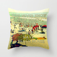 Beach Decor | Pillow Cover | Gifts For Her Throw Pillow | FRIENDS | Decorative Home | Vintage Style Photograph | Sea