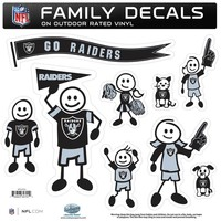 NFL - Oakland Raiders Family Decal Set Large