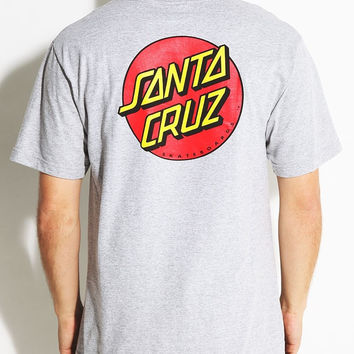 Santa Cruz, Classic Dot T-Shirt - Athletic Heather