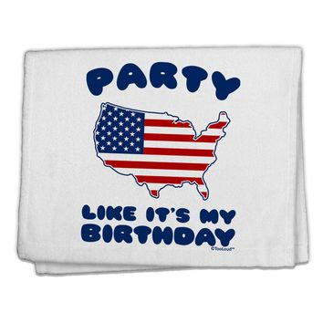 "Party Like It's My Birthday - 4th of July 11""x18"" Dish Fingertip Towel"