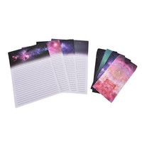 9Pcs/set 6 sheet letter paper+3 pcs envelopes Beautiful starry sky Letter pad Set writing paper Office School Supplies