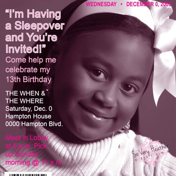 Magazine Cover Birthday Party Invitation - Digital File OR Printed