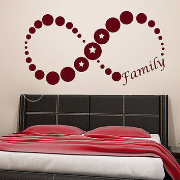 Wall Decal Quotes Family Infinity Symbol Star Art Bedroom Vinyl Sticker MR674