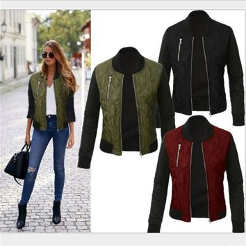 Quilted Bomber Jacket - 3 Colors