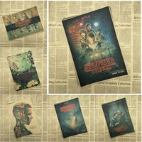 Stranger Things  Classic Movie Kraft Paper Poster Bar Cafe Living Room Dining room Wall Decorative Paintings
