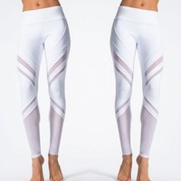 Women Sport Leggings Fitness Yoga Pants White Athletic Leggings Sport Tight Mallas Mujer Deportivas Gym Clothes Running