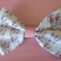 Pokemon Sylveon Inspired Hair Bow