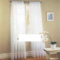 "2 Pcs. Sheer Voile Window Panel curtains DRAPE 63"" , 84 , 95"" SCARF MANY COLORS"