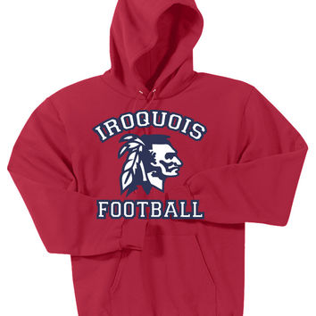 Iroquois HS Football Port & Company® Mens - Ultimate Pullover Hooded Sweatshirt