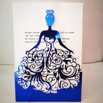 50Pcs Girl Birthday Invitation Cards Wedding Invitations Cards