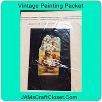 Vintage Painting Packet #11 Kids Playing Outside