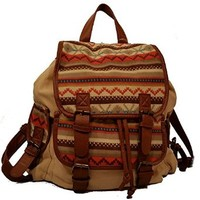 Stone Mountain Navajo Fabric Backpack Khaki