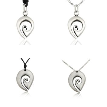 Flawless New Maori Fishing Hook  Size M SSilver Pewter Charm Necklace Pendant Jewelry