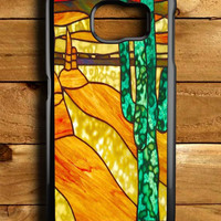 Cactus Stained Glass Samsung Galaxy S6 Case