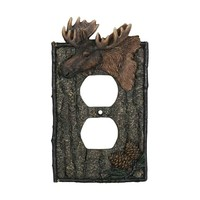 River's Edge Duplex Outlet Cover - Moose