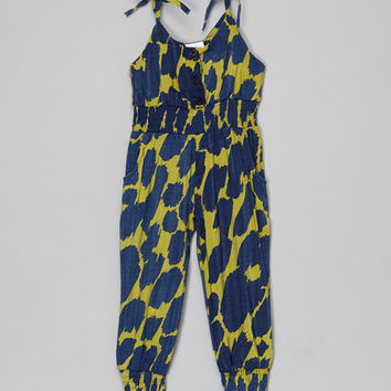 Leighton Alexander Blue & Yellow Jumpsuit - Infant, Toddler & Girls | zulily