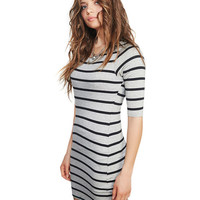 Everyday Striped T-Shirt Dress | Wet Seal