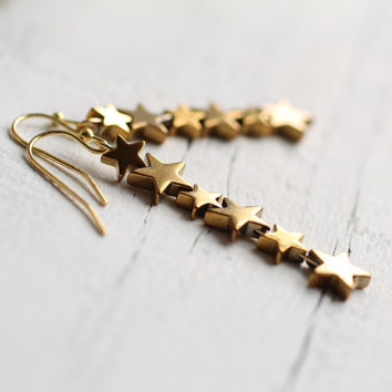 Star Earrings ... Constellation Milky Way Space Astrology