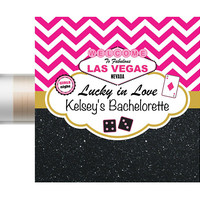 Las Vegas Bachelorette Party Favors - Chapstick - Las Vegas Bachelorette -Wedding Favors-Bridal Party Favor-Vegas Bachelorette-Lip Balm-Hen