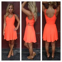 Neon Coral Olivia Dress