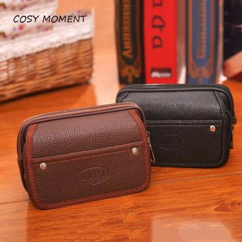 COSY MOMENT PU Leather Men Handy Cigarette Wallet Tobacco Pouch Business Clutch Bags Mobile Phone Cigarette Purse Pouch  YJ207