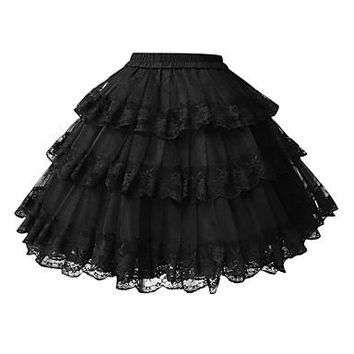 Classic Lolita Dress Lolita Women's Petticoat Cosplay White Black Short Length