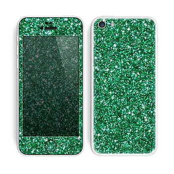 The Green Glitter Print Skin for the Apple iPhone 5c