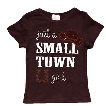 Just A Small Town Girl Brown Shirt