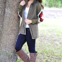 Follow The Leader Jacket: Olive | Hope's