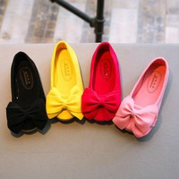 Fancy 1-6Y Toddler Kid Baby Girl Shoes Bow Flat Casual Single Shoes Soft Slip-on Princess Party Shoes
