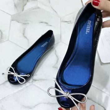 Melissa 2018 Summer New Women's Tide Brand Fashion Jelly Shoes F-ALXY blue