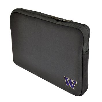 Washington Huskies Harry the Husky Black Neoprene Laptop 15-15.6 inch Sleeve Bag
