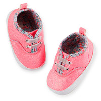 Carter's Glitter Sneaker Crib Shoes