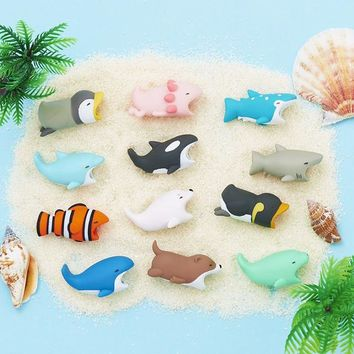 1PCS Cable Bite Series 3 Protector for Iphone Accessory Protect Cable Accessory cable biters Clownfish Sea Life doll squishy toy