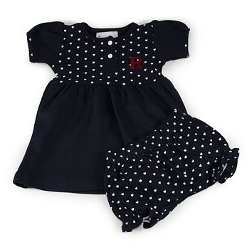 Rutgers Girl's Heart Dress with Bloomers
