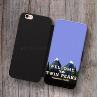 Welcome to twin peaks Poster Wallet Leather Case for iPhone 4s 5s 5C SE 6S Plus Case, Samsung S3 S4 S5 S6 S7 Edge Note 3 4 5 Cases