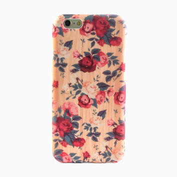Vintage Wood Floral iPhone 6 Case