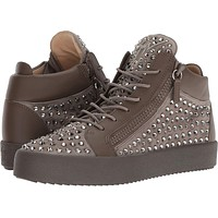 Giuseppe Zanotti Mens May London Mid Top Studded Sneaker